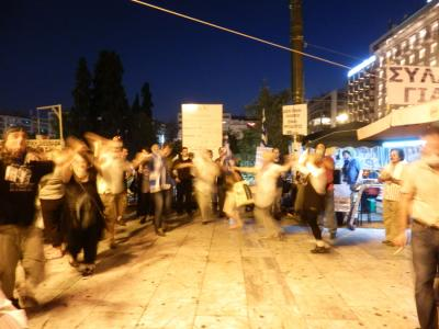 Greek 'patriots' in the Streets of Athens