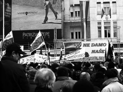 A nationalist protest in Zagreb