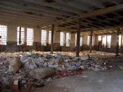 Ruins of Kosta Stamenković textile factory, Leskovac.